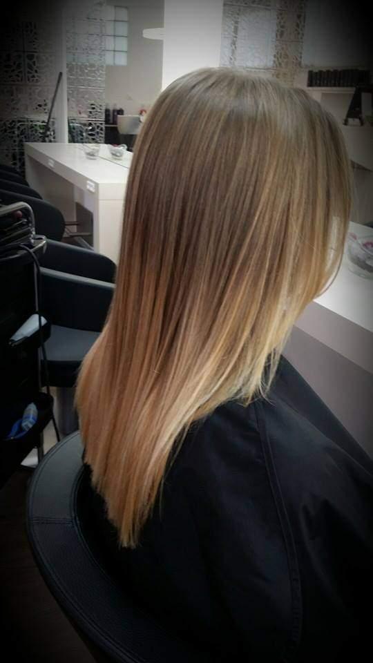 Ballayage-glattes-Haar