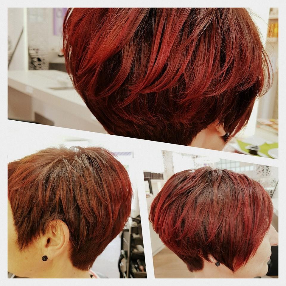 Kurzhaarschnitt rote Haare