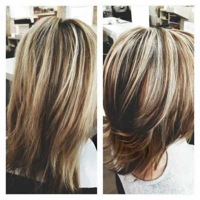 Color and cut Aschblond
