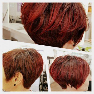 Kurzhaarfrisur Rot von Coiffeur Kopfarbeit